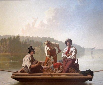 George Bingham, Art, Painting, Oil On Canvas, Artistic