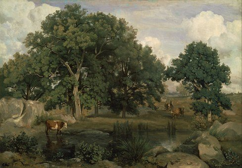 Jean Corot, Painting, Oil On Canvas, Artistic, Nature