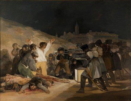 Execution, Shooting, Oil On Canvas, Francisco De Goya