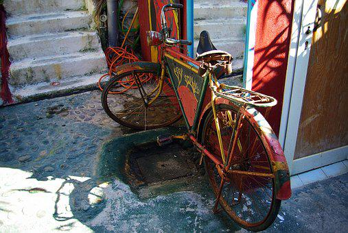 Bike, Old, Colorful, Wheel, Old Bicycle, Stainless