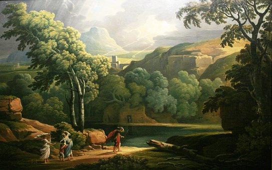George Barret, Art, Artistic, Painting, Oil On Canvas