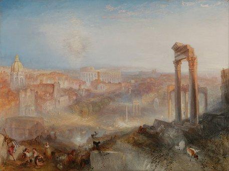 Joseph Turner, Art, Painting, Oil On Canvas, Landscape