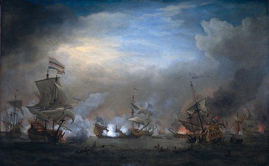 Willem Van De Velde, Art, Painting, Oil On Canvas, Sky