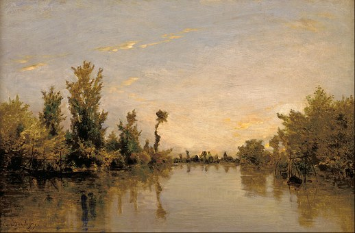 Charles Daubigny, Painting, Oil On Canvas, Art
