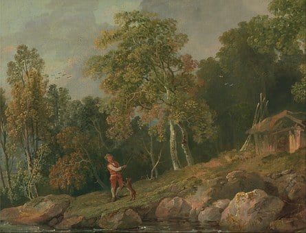 George Barret, Art, Painting, Oil On Canvas, Landscape