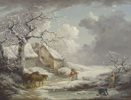 George Morland, Painting, Oil On Canvas, Artistic