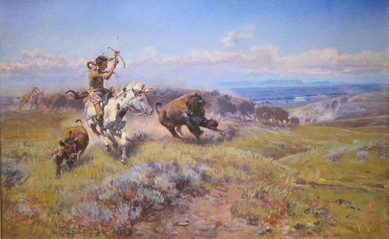 Charles Russell, Art, Painting, Oil On Canvas, Artistic