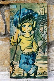 Old Graphics, Old Painting, Boy, Consists Of, Picture