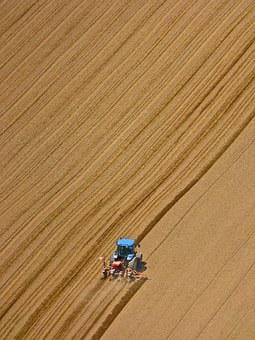 Tractor, Ploughing, Field, Agriculture, Cultivation