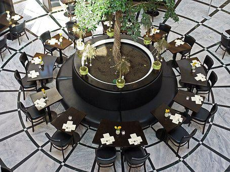 Restaurant, Table Circle, Mall, Shopping Centre