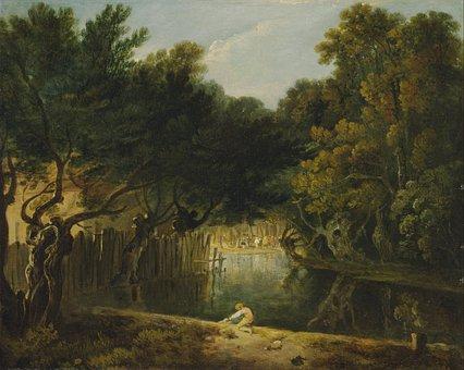 Richard Wilson, Painting, Oil On Canvas, Artistic