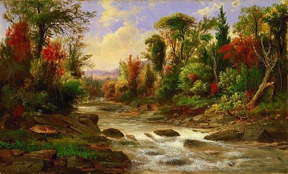 Robert Duncanson, Landscape, Art, Artistic, Painting