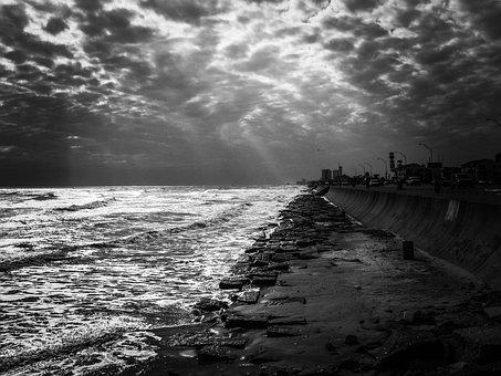 Gulf Of Mexico, Sea, Ocean, Water, Shoreline, Shore