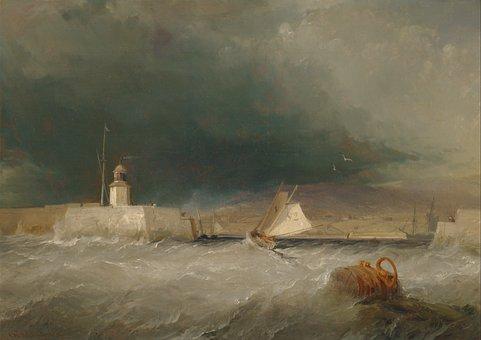 George Chambers, Ocean, Sea, Water, Storm, Shoreline