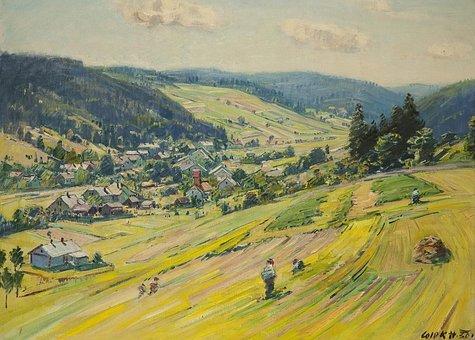 Stanislav Lolek, Landscape, Painting, Art, Artistic