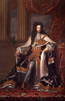 King William Iii, Unknown Artist, Man, Male, Throne