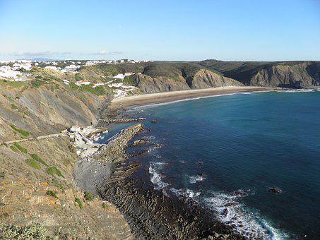 Algarve, Portugal, Arrifana, Surfing, Ocean, Water