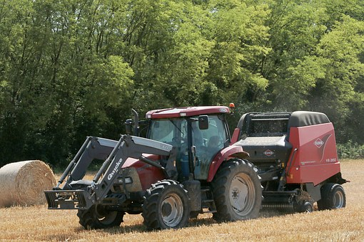 Tractor, Work In The Fields, Hay, Forage, Work, Farmer