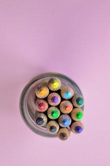 Green, Sharp, Red, Yellow, Bright, Orange, Pencil