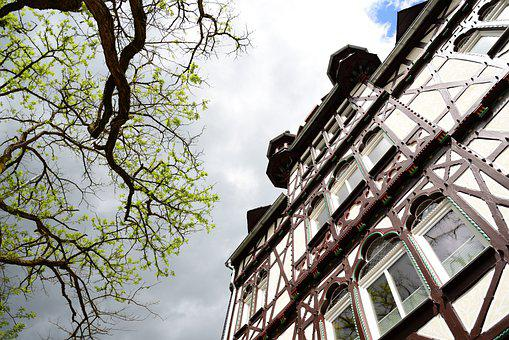 Building, Half-timbered, Architecture, Facade, House