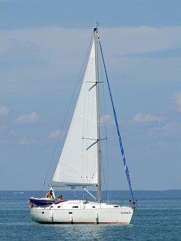 Ship, Sailing, Mast, Lake, Water, Lake Balaton, Hungary