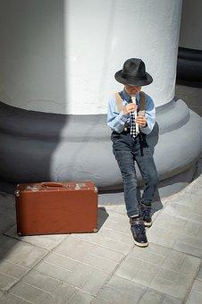 Musician, Kids, Music, Play, Sheet Music, Flute, Boy