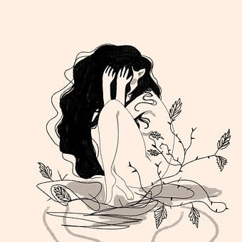 Girl, Thorns, Fear, Leaves, Vine, Plant, Prickly, Woman