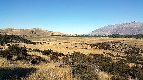 Lake Lyndon, New Zealand, South Island, Landscape, Sky
