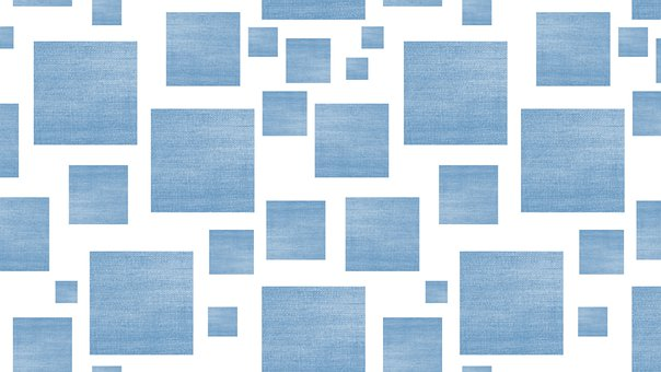 Square, Pattern, Background, Blue, White, Cold, Winter