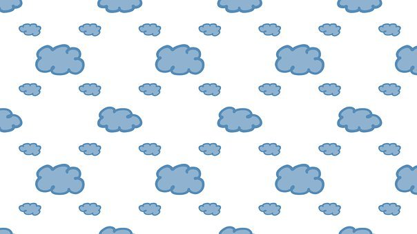 Clouds, Pattern, Background, White, Cute Wallpaper