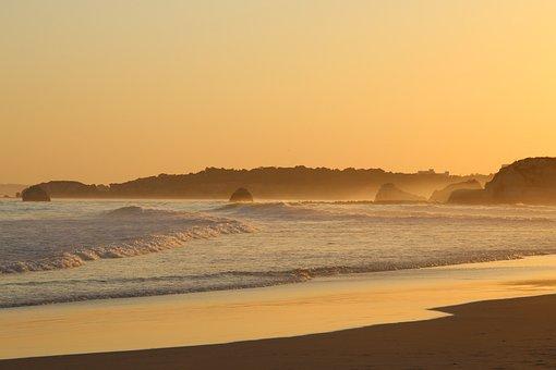 Beach, Sunset, Sea, Ocean, Sun, Dusk, Twilight, Sand