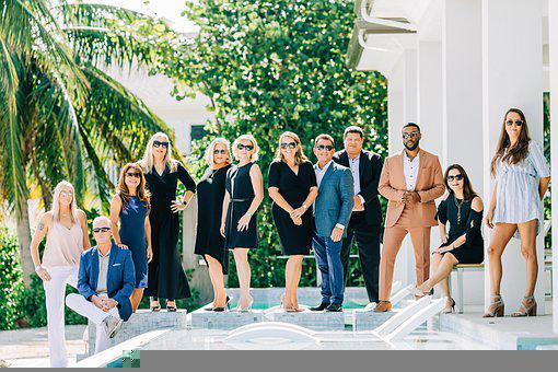 Group, People, Portrait, Pool, Agents, Family, Team