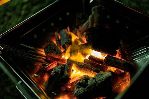 Camp Fire, Camping, Burning Platform
