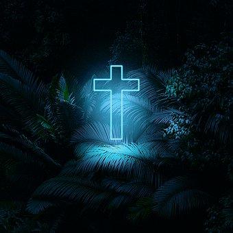 Cross, Glow, Church, Grace, Light, Christian, Gospel