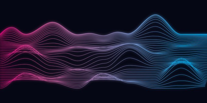 Abstract, Wave, Digital, Design, Space, Energy, Fractal