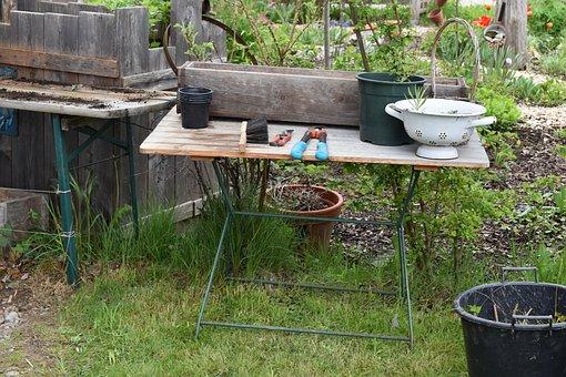 Plant Table, Garden, Gardening, Hobby, Flower Box