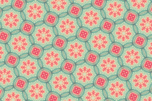 Background, Ornamental, Pattern, Green, Pink, Colorful