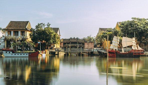 Hoi An, Town, Canal, Vietnam, Ancient Town, Bridge