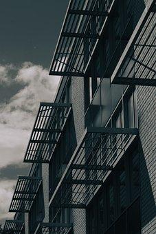 Building, House, Windows, Facade, Skyscraper