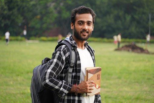 Student, Indian, Books, Portrait, Education, Man, Boy