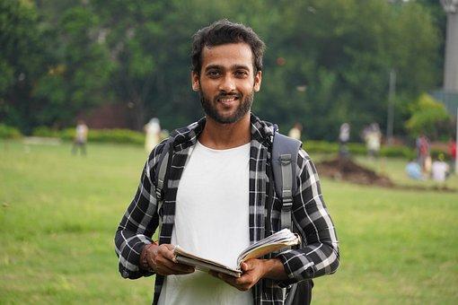 Student, Indian, Book, Portrait, Education, Man, Boy