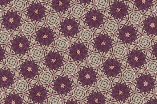 Background, Ornamental, Pattern, Purple, Brown