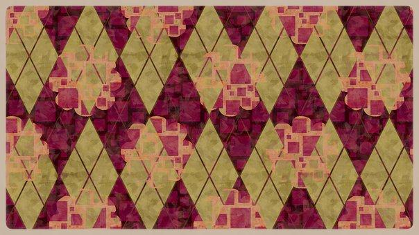Rhomboid, Pattern, Abstract, Background, Purple