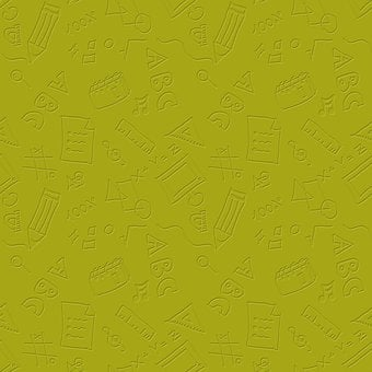 Education, Doodle, Pattern, Green, Background, Embossed