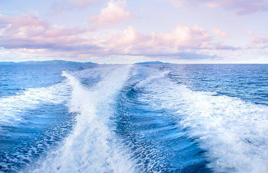 Speedboat, Sea, Waves, Trip, Travel, Tourism, Vacation
