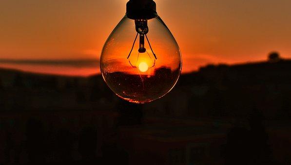 Sunset, Lightbulb, Light Bulb, Light, Twilight