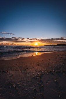 Beach, Sand, Ocean, Sea, Coast, Vacations, Bank