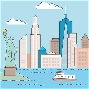 New York, City, Statue Of Liberty, America, Usa