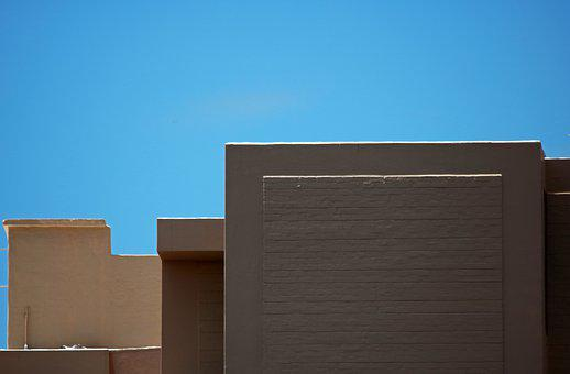 Concrete Buildings, Tall, Modern, Angular, Structure