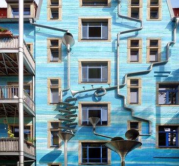 Dresden, Kunsthof Passage, Architecture, Art, Building